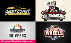 40 Creative Car themed Logo Design examples for your inspiration. Follow us www.pinterest.com/webneel