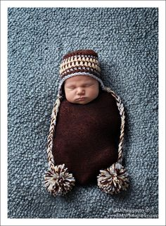 Crocheted Baby Hat, Crocheted Newborn Hat, Newborn Hats, Newborn Photo Props, Newborn Photography Prop, Baby Boy Hats. $26.00, via Etsy.