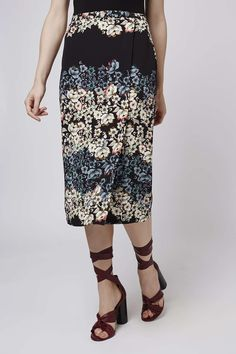Photo 3 of Flower Border Wrap Midi Skirt