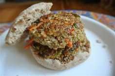 Protein-Packed Quinoa Bean Burgers (Meatless Monday) - The Candid RD