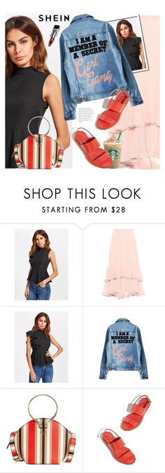 """Shein"" by ewa-naukowicz ❤ liked on Polyvore featuring Chloé, GUESS and Christian Dior"