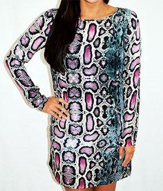 Charlie Jade Silk Snakeskin Dress