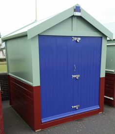 New beach hut built and ready for action.