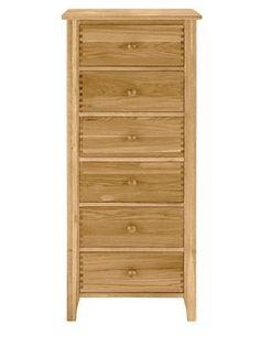 Windsor Ready Assembled Solid Oak 6-drawer Chest