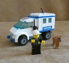 7285 Lego City Police Dog Unit Complete minifigs van car #LEGO