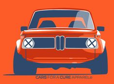 Retro 2002 - Mason Watson's original BMW 2002  illustration for Cars for a Cure T-Shirt. 20% of proceeds from each sale go directly to The Breast Cancer Research Foundation®. #CarsforaCure #MasonWatson
