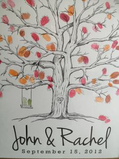 Wedding Tree Fingerprint Guest Book