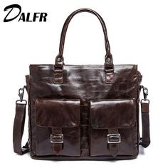 Cheap leather portfolio bags, Buy Quality mens office bags directly from China document briefcase Suppliers: Leather Portfolio Bag Men Genuine Leather Briefcase Shoulder Pasta Executiva Masculino Document Briefcase Mens Office Bags 471 Briefcase For Men, Leather Briefcase, Handbags For Men, Leather Handbags, Leather Bags, Office Bags For Men, Laptop Tote Bag, Laptop Briefcase, Business Laptop
