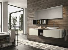 Lacquered wall-mounted vanity unit with drawers GIUNONE 353 Giunone Collection by Edoné by Agorà Group | design Marco Bortolin