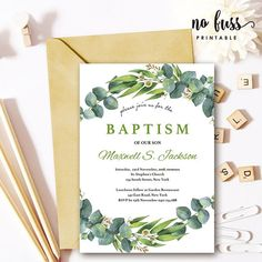 Bautizo etiqueta blue baptism favor tag spanish personalized leaves baptism invitation christening 5x7 editable pdf instant download personalize at fandeluxe Gallery