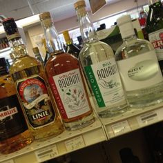 Arbor Pointe Liquors in Inver Grove Heights now carrying both the Holiday and the Dill aquavit - 5/29/14