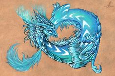 Cold fire dragon by AlviaAlcedo.deviantart.com on @deviantART
