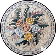 MD005 Marble Mosaic Medallion