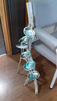 Paua Shell, Abalone Shell, Fantasy House, Shell Art, Shell Crafts, Beach Art, Bath Room, Waterfall, Shells