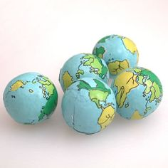 Chocolate Earth Candy! Cute as favors or maybe just on the table?