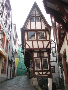 Bernkastel, Germany  The tipping house