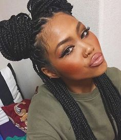 Looking for a new hair look that is sassy, fabulous and stunning? It's time for a throwback - Poetic Justice braids are back. Box Braids Hairstyles, African Hairstyles, Teenage Hairstyles, Hairstyles Videos, Dreadlock Hairstyles, Wedding Hairstyles, Afro Hair Style, Curly Hair Styles, Natural Hair Styles