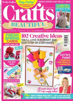 Crafts Beautiful January 2015: A Digital Sample  Celebrate the new year with abundance of colourful, happy, exciting makes! We've got floral cards, lavender sachets, a crochet bunny, thrifty ideas, soft leather bootees for little tots, and more! Plus, we get back to basics with watercolour and chat to crochet expert Nicki Trench. Out on 12th December - don't miss out!