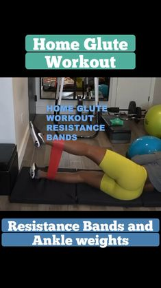 Beginner workout at home Beginner workout at home ,Sport At home workouts with resistance bands. Exercises for beginners using resistance bands. Exercise at home for women. Booty burn at home. Gym Back Workout, At Home Glute Workout, Beginner Workout At Home, Pilates For Beginners, At Home Workout Plan, Butt Workout, Workout Videos, At Home Workouts, Gym Workouts