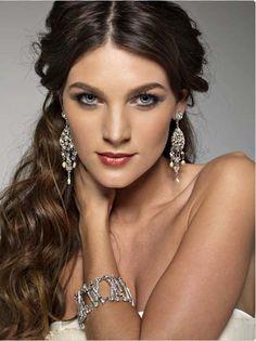jewelry model posing