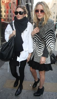 Loving the black and white ensembles!#Repin By:Pinterest++ for iPad#