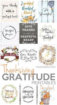 Perfect Thanksgiving Gratitude Printables