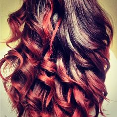 Im soooo over the ombre look but this is nice, red ombre.