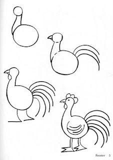 Aprenda a desenhar uma galinha