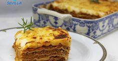 Lasaña a la boloñesa,Cocina tradicional casera