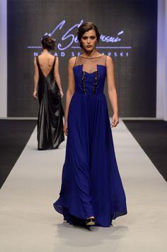 Long Ink Blue Dress