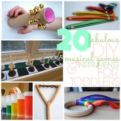 Make music with your toddlers! Here are 20 DIY musical instruments from @Babble.