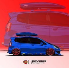 Honda Jazz, Honda Fit, Jazz Art, Cars And Motorcycles, Art Gallery, Clip Art, Trucks, Wallpapers, Bike