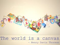 The World is a Canvas - Ideas for Displaying Children's Art...