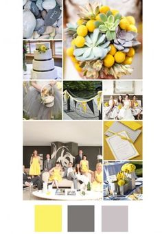 20 New Wedding Colour Combos Yellow Grey Silver The Knot