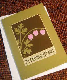 Bleeding Heart Note Cards. $10.00, via Etsy.