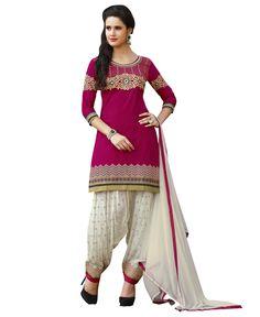 Kvsfab Pink Pure Cotton Salwar Kameez