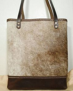 Hand Stitched Cowhide & Horween Leather Tote