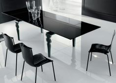 Modern Glass Dining Table Modern Dining Table. Gray Dining Room. Small Modern Dinner Table