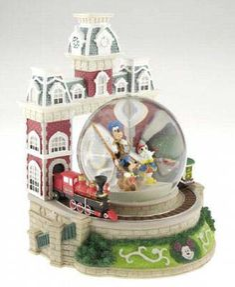 Your WDW Store - Disney Snow Globe - Mickey & Friends - Main Street Train Station