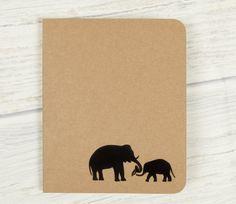 Carnet éléphant, petit carnet, carnet mignon, mignon papeterie, cahier, éléphant cadeaux, carnet les voyageurs, papeterie, journaux mignon