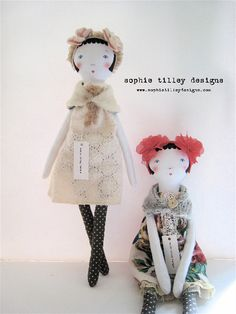 Here are Sophie Tilley's latest doll designs! See all of Sophie's dolls here.
