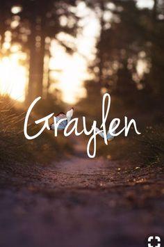 Graylen - unique boy or girl name!
