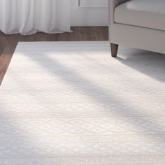 Three Posts Acton Ivory Indoor/Outdoor Area Rug Rug Size: x White Area Rug, Beige Area Rugs, Indoor Outdoor Area Rugs, Modern Rustic Interiors, Home, Design, Rug Size, Sisal Rugs, Minimalist Chic