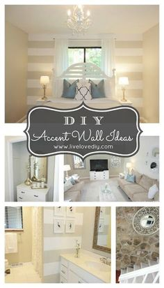 Great ideas for adding interest to  your walls.