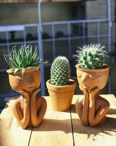 Garden Types, Diy Garden, Garden Art, Garden Crafts, Garden Projects, Garden Ideas, Backyard Ideas, Pot Plante, Clay Crafts