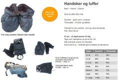 Dun handsker og muffer - tøj til handicap og kørestol
