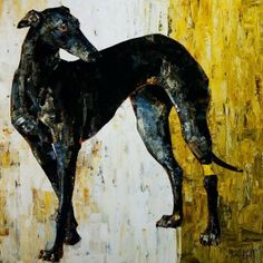 (via Greyhound with Yellow Panel, by Constance Bachmann)
