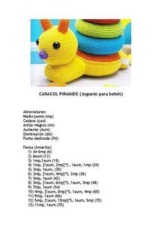 Crochet ideas that you'll love Crochet Baby Toys, Crochet Gifts, Crochet For Kids, Free Crochet, Crochet Doll Pattern, Crochet Patterns Amigurumi, Crochet Dolls, Stacking Toys, Stuffed Toys Patterns