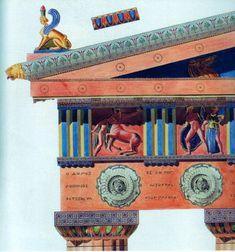 Detail des Parthenon in Athen. Basilica Architecture, Architecture Antique, Ancient Greek Architecture, Classic Architecture, Architecture Drawings, Feldkirch, Roman Artifacts, Hellenistic Period, Roman City