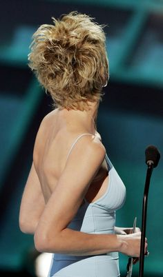 Hair Care Illustration Description sharon stone short shag from the backBest Sharon Stone Short Hairstyles, The development in the fields of vogue and films has completely altered the trend in hairstyling.Sharon Stone Pixie Haircut - See PicSearch Results Sharon Stone Short Hair, Sharon Stone Hairstyles, Mom Hairstyles, Choppy Hair, Edgy Hair, Short Grey Hair, Short Hair Cuts For Women, Sharon Stone Photos, Cute Haircuts